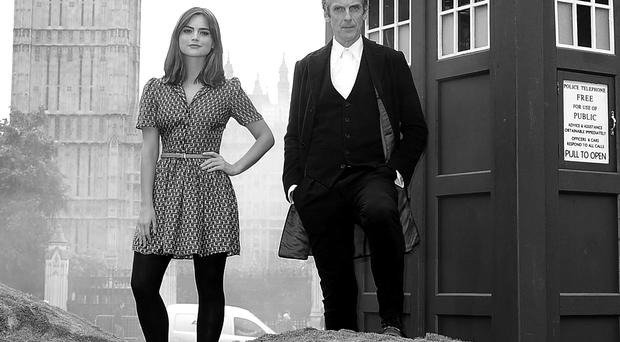 Peter Capaldi and Jenna Coleman star in Dr Who as it returns to TV tonight