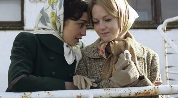 Finding hope: Sarah Greene (right) as Christina Noble, with co-star Ruth Negga