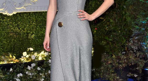 Cinderella star Lily James at the film's premiere last night