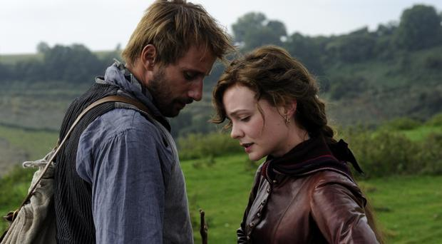 Young love: Matthias Schoenaerts as Gabriel Oak and Carey Mulligan as Bathsheba Everdene