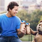 Bottoms up: Mark Wahlberg with his cuddly friend