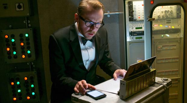 Specs appeal: Simon Pegg is back as techie geek Benji Dunn in the latest Mission: Impossible film