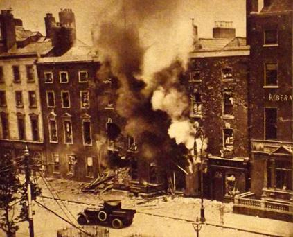 Dublin in 1916 in the aftermath of the Easter Rising