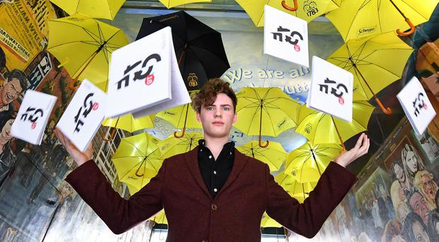 Mentalist Joel Mawhinney at the launch of the Cathedral Quarter Arts Festival in Belfast. (Justin Kernoghan)