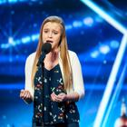 Leah Barniville performs for the BGT judges. (ITV)