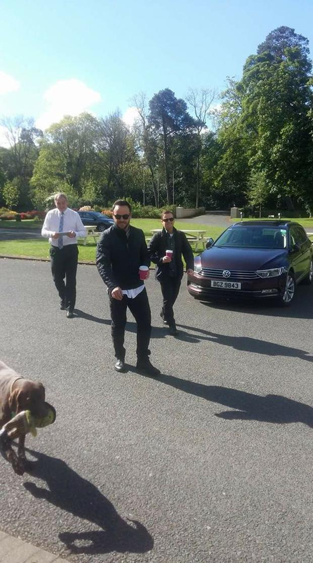 Ant and Dec pictured at Tullylagan House Hotel, near Cookstown.