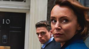 Keeley Hawes as Julia Montague and Richard Madden as David Budd in BBC drama Bodyguard