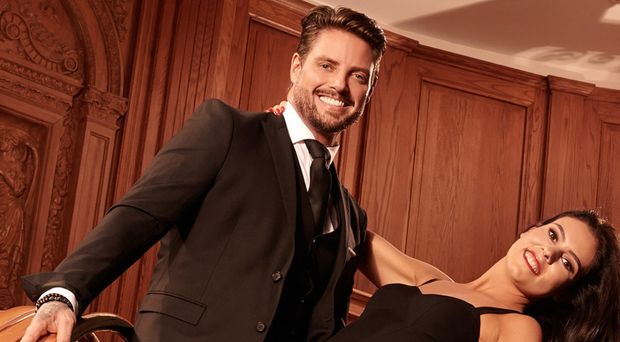 Keith Duffy and Miss Northern Ireland Lauren Lecky launch the Action Cancer Christmas Ball at Titanic Belfast
