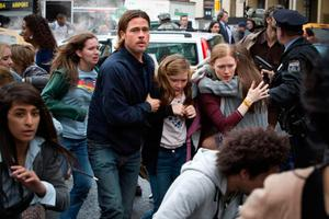 Brad Pitt in the 2013 zombie plague film World War Z