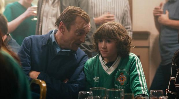 Father figure: Richard Dormer and Art Parkinson in Shooting for Socrates