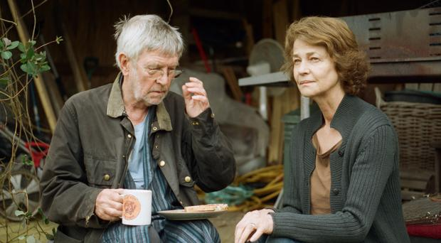 In crisis: Tom Courtenay and Charlotte Rampling as couple George and Kate in 45 Years