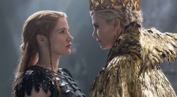 Sister act: Charlize Theron and Jessica Chastain in The Huntsman: Winter's War