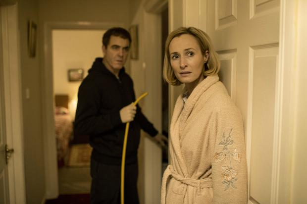 James Nesbitt as Colin Howell and Genevieve O'Reilly as Hazel Stewart committing the murders
