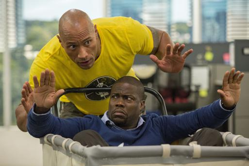 Hands up: Dwayne Johnson and Kevin Hart in Central Intelligence