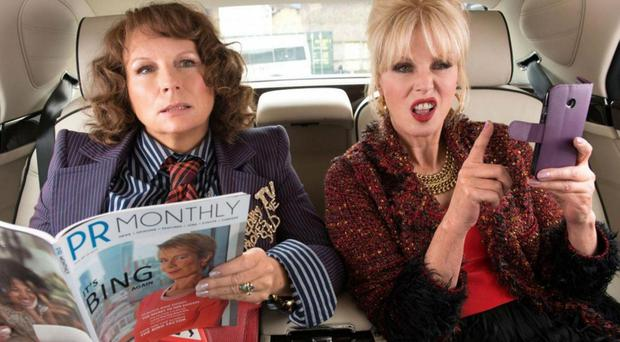 Party hard: Jennifer Saunders and Joanna Lumley