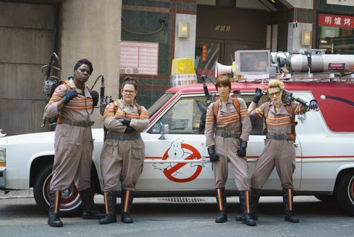 Laser treatment: from left, Leslie Jones, Melissa McCarthy, Kristen Wiig and Kate McKinnon in Ghostbusters