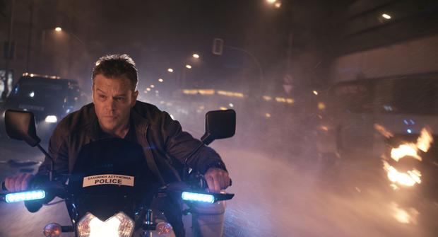Matt as Jason Bourne in a typically high-octane scene from the film