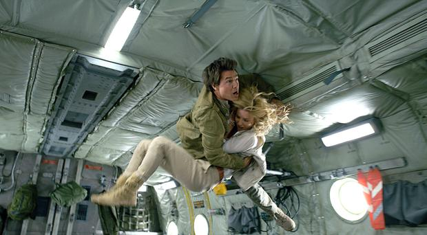Gravity defying: Tom Cruise and Annabella Wallis in The Mummy