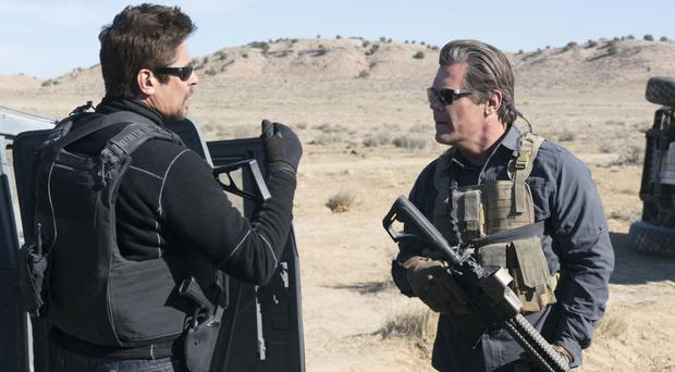 Tough roles: Benicio del Toro as Alejandro Gillick and Josh Brolin as Matt Graver