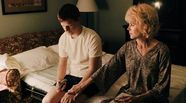 Challenging story: Lucas Hedges and Nicole Kidman as Jared and Nancy Eamons