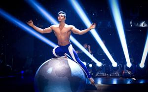 Louis Smith combined gymnastics with dancing (Guy Levy/BBC/PA)