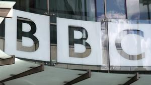 A view of the BBC New Broadcasting House sign (Jonathan Brady/PA)