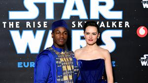 John Boyega and Daisy Ridley attending the Star Wars: The Rise Of Skywalker premiere (Ian West/PA)