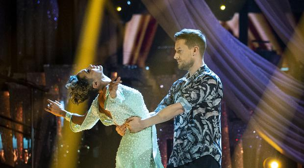 Chris Ramsey with Karen Hauer on Strictly (Guy Levy/BBC)