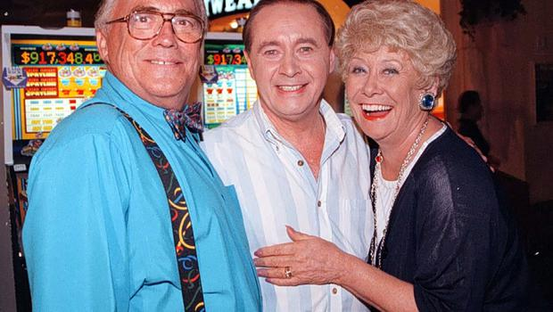 Corrie's Jack and Vera Duckworth (Bill Tarmey and Liz Dawn) with Ray Langton (Neville Buswell) (PA)