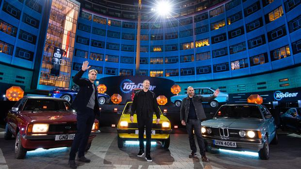 Andrew Flintoff, Paddy McGuinness, Chris Harris (BBC Studios/PA)