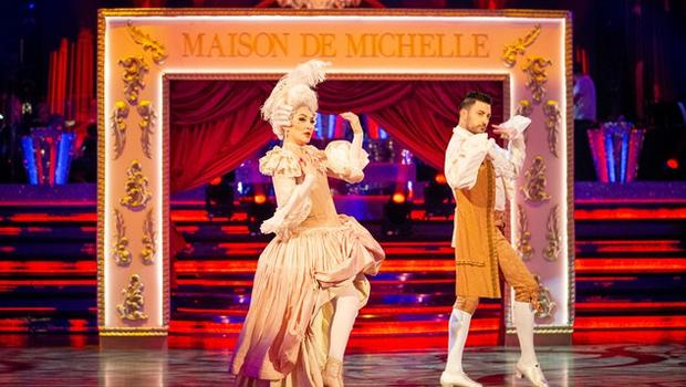 Michelle Visage and Giovanni Pernice on Strictly (Guy Levy/BBC)
