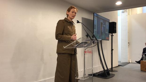 Tilda Swinton at the launch (Sherna Noah/PA)