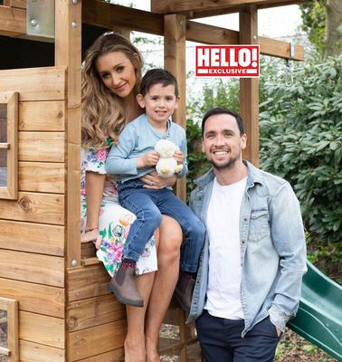 Catherine Tyldesley with her family (Hello!)