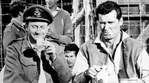 Cast members of The Great Escape, which was the springboard for the career of Tom Adams