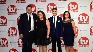 The Tapper Family from Gogglebox, Jonathan, Nikki and their kids Josh and Amy (Ian West/PA)