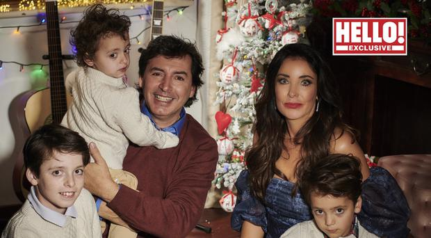 Jean-Christophe Novelli and his fiancee Michelle Kennedy with their children (Hello! magazine/PA)