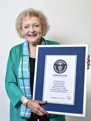 Betty White (Guinness World Records/PA)