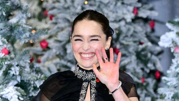Emilia Clarke attending the Last Christmas premiere held at BFI Southbank, London. (Ian West/PA)