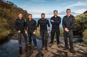 Jason Fox and Ollie Ollerton with the SAS: Who Dares Wins instructors (Channel 4/PA)