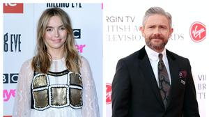 Jodie Comer and Martin Freeman (PA)