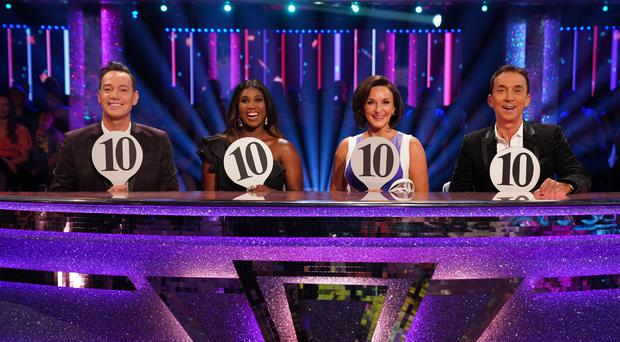 Strictly judges Craig Revel Horwood, Motsi Mabuse, Shirley Ballas and Bruno Tonioli (Kieron McCarron/BBC)