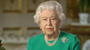 The Queen during her address to the nation (Buckingham Palace/PA)