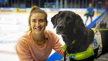 Dancing On Ice star Libby Clegg and her guide dog Hatti (Go Forth Photography/The Guide Dogs For The Blind Association/PA)