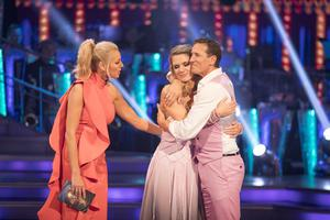 Tess Daly, Charlotte Hawkins and Brendan Cole during last year's Strictly Come Dancing, which was Cole's last stint on the show (BBC/PA)