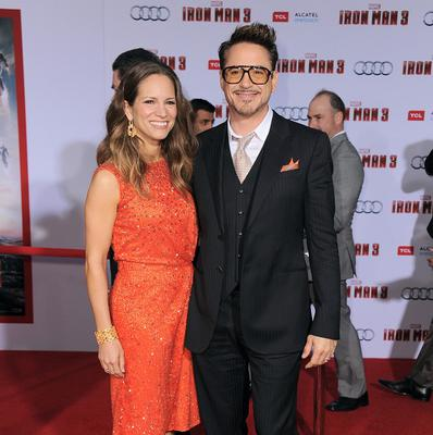 Robert Downey Jr and his wife Susan Downey arrive at the world premiere of Marvel's Iron Man 3