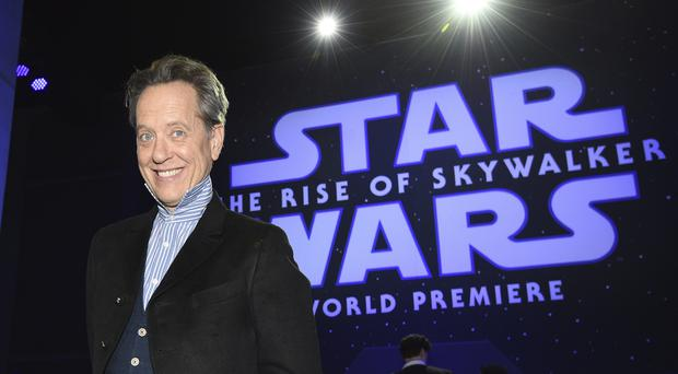Richard E Grant has revealed security around the plot of the latest Star Wars film was so tight he did not tell his wife or daughter the name of his character (AP Photo/Chris Pizzello)