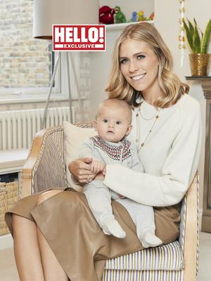 Nicki Shields and her baby son Arthur (Hello! magazine)