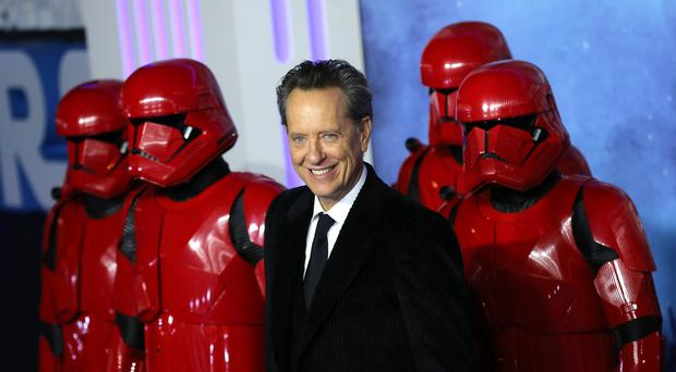 Richard E Grant walks the carpet at the premiere of Star Wars: The Rise of Skywalker (Isabel Infantes/PA)