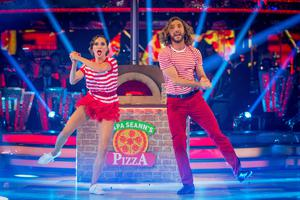 Seann Walsh and Katya Jones on Strictly Come Dancing (Guy Levy/BBC)