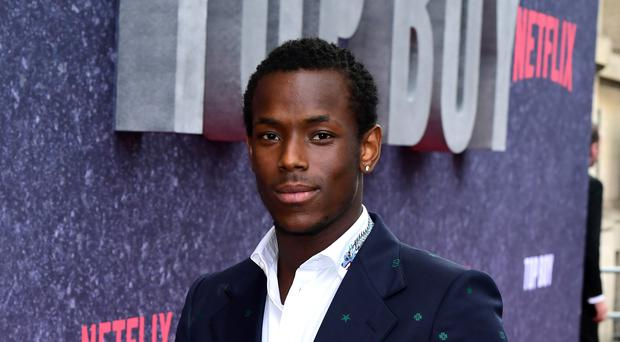 Micheal Ward attending the UK premiere of Top Boy at the Hackney Picturehouse in London.